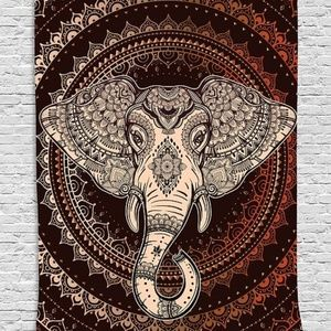 Tapestry Ethnic Elephant Wall Hanging Backdrop